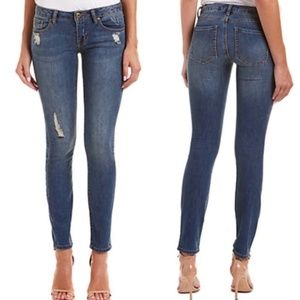 CAbi Distressed Curvy Skinny Denim Jeans